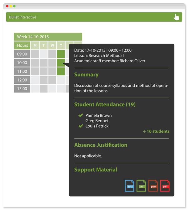 Interactive Academic Web Portal